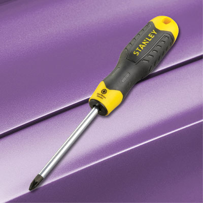 Stanley Tools STA064916 Cushion Grip Screwdriver Flared Tip 5 x 100mm