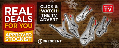 Crescent® Locking Plier Set, 5 Piece TV Advert