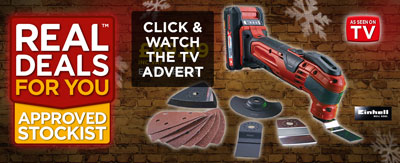 Einhell TE-MG18 Li Cordless Multi-Tool 18V 2 x 2.0Ah Li-ion TV Advert